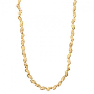 Gilded cardamon necklace
