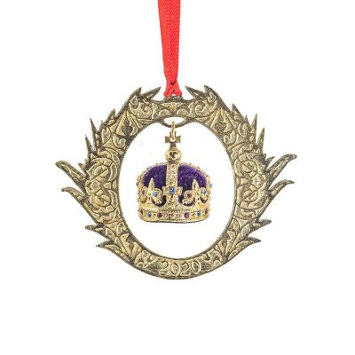 Field of the Cloth of Gold 2020 Christmas Decoration - Gold plated pewter - Made in the UK for Historic Royal Palaces