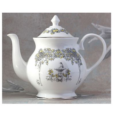 Atty & Smart English Kingfisher fine bone china Alice in Wonderland style teapot