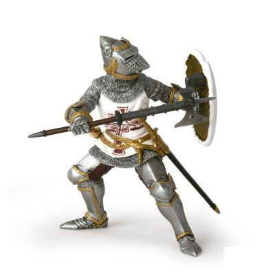 Germanic knight in armour model toy