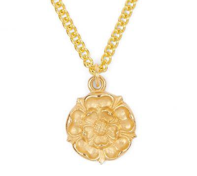 Gold Tudor Rose pendant
