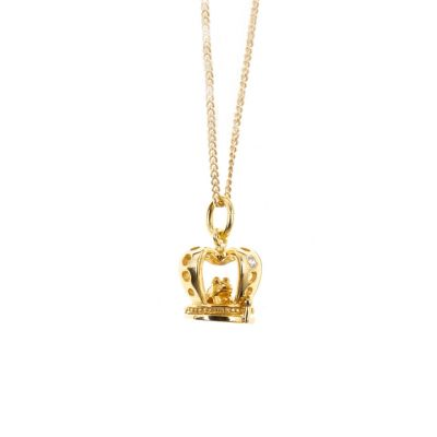 Gold Vermeil Frog Prince Charm Necklace