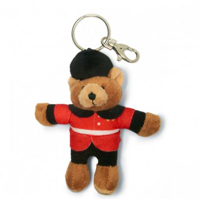 Guardsman teddy bear plush keyring bag charm
