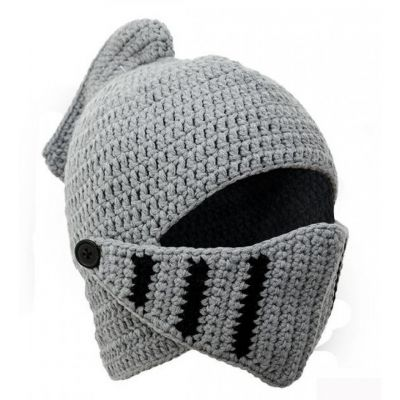 knitted childrens knight hat