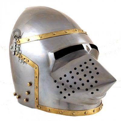 Medieval armour - pigface bascinet