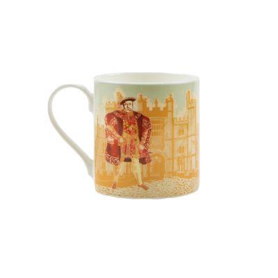 Illustrated Henry VIII at Hampton Court Palace fine bone china mug