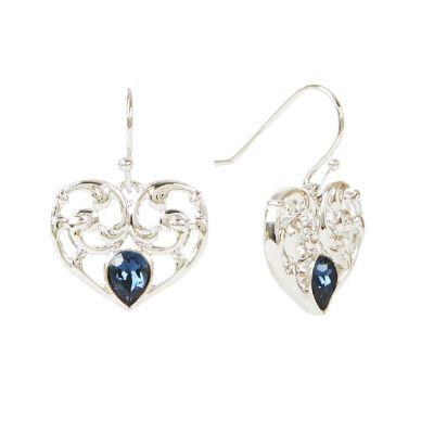 Princess Diana heart drop earrings