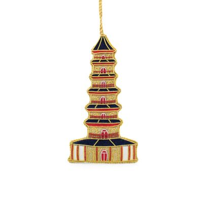Kew gardens pagoda luxury embroidered hanging decoration