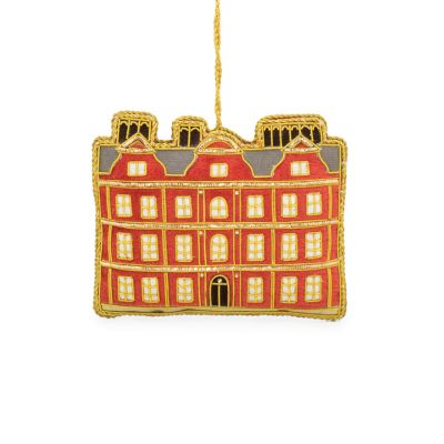 Kew Palace luxury embroidered hanging christmas tree decoration by St Nicolas