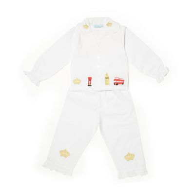 Crown embroidered children's pyjamas
