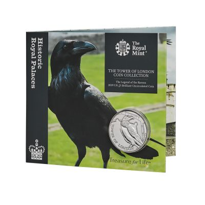 The Royal Mint Tower of London 'The Legend of the Ravens' UK £5 brilliant uncirculated coin