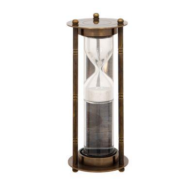Liquid sand antique style brass timer