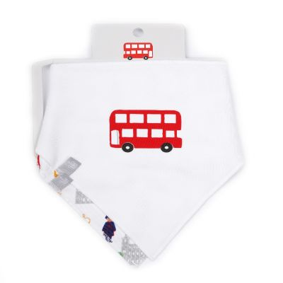Little London cotton handkerchief x2 bib pack