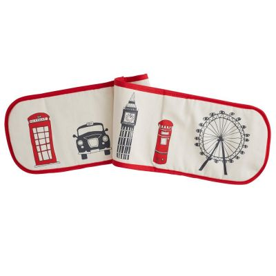 London skyline double cotton oven glove