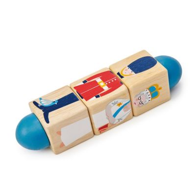 Traditional children's wooden London twister toy