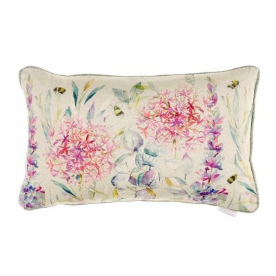 Luxury floral bee cushion