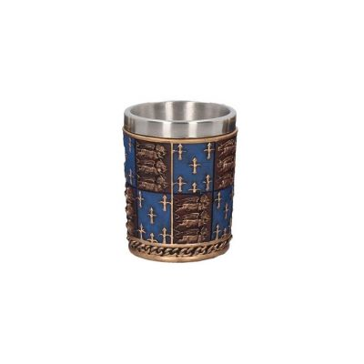 Medieval knights re-enactment shot glass - Royal coat of arms