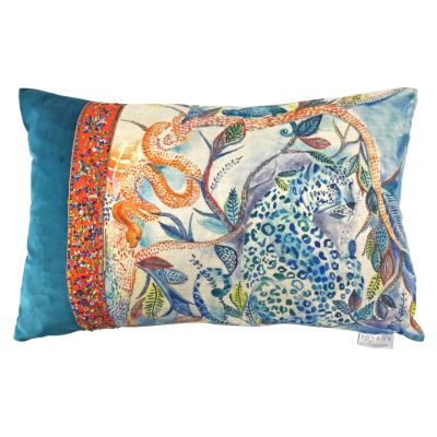 Luxury Meera sunset patchwork cushion