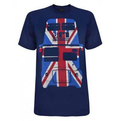 Navy Union Jack bus t-shirt