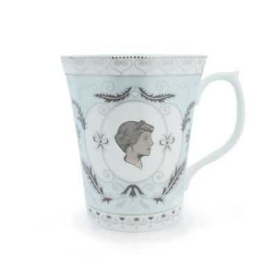 Princess Diana fine bone china blue cameo commemorative mug