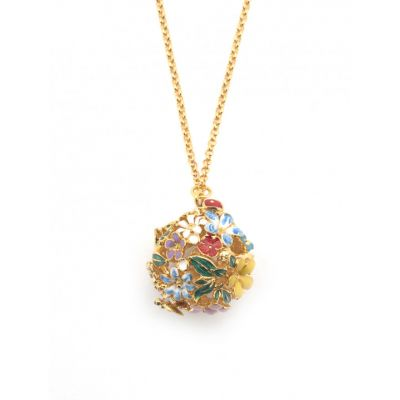 Floral Orb Gold Necklace