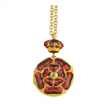 Tudor Rose enamel locket