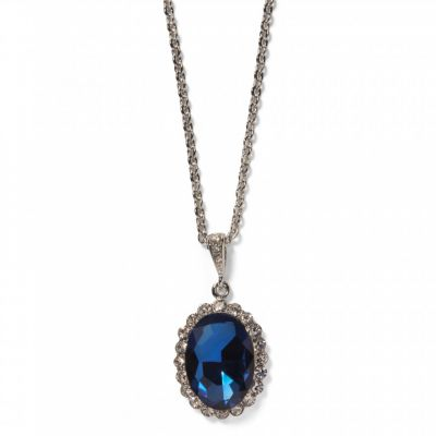 Princess diana faux sapphire inspired pendant