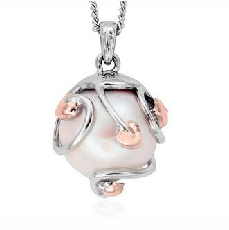 Clogau tree of life sterling silver pearl pendant by clogau gold