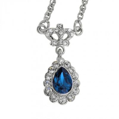 Butler And Wilson Blue teardrop pendant necklace
