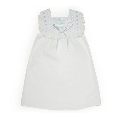 Light blue ribbon lace night dress