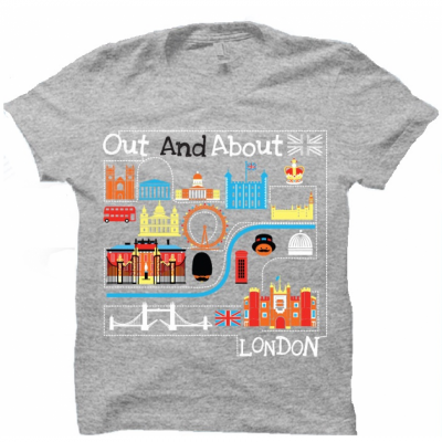 'Out and about in London' kids souvenir t-shirt - Tower of London
