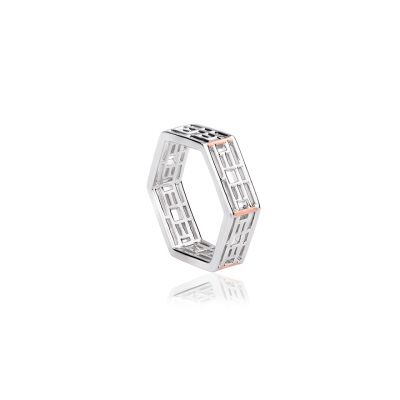 Clogau Kew Pagoda silver and rose gold ring