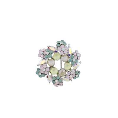 Pastels flower brooch