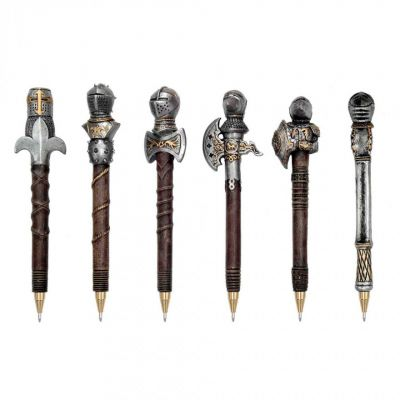 Medieval Knight resin novelty pen - Arms & Armour gifts
