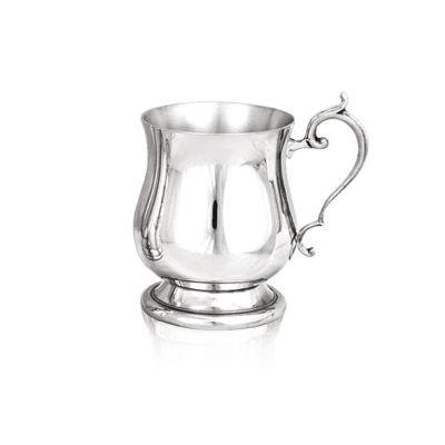 Georgian children's pewter tankard christening cup