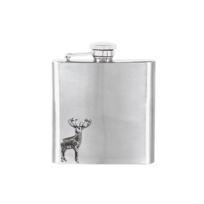 English pewter stag flask