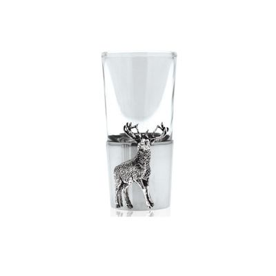 English Pewter stag shot glass