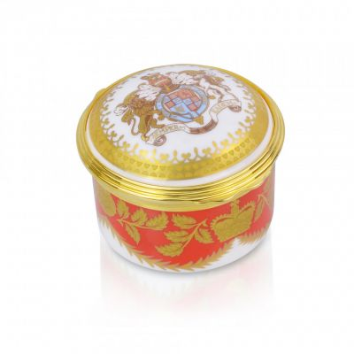 Royal Palace Crest English fine bone china pill box