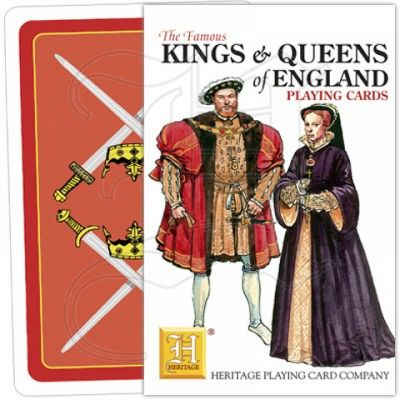 Heritage play card Kings and Queens of England playing cards