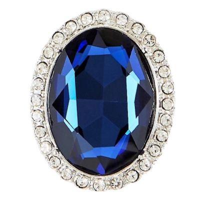 Princess Diana faux sapphire brooch