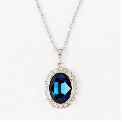 Princess diana faux sapphire inspired pendant