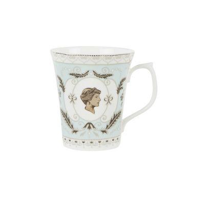 Princess Diana fine bone china blue cameo commemorative mug