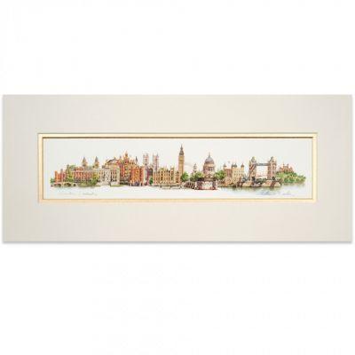 London landmarks panoramic print - Matthew Cook illustration - Tower of London