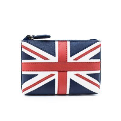 Union Jack leather purse