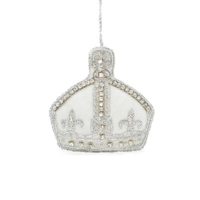 Queen Victoria's small crown luxury embroidered Christmas decoration