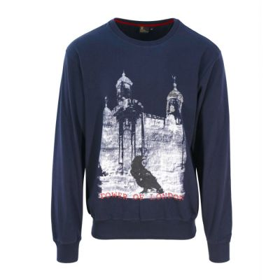Tower of London raven navy sweatshirt