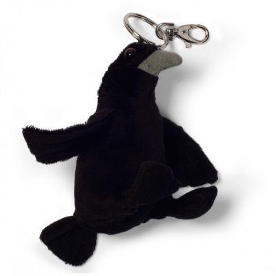 Tower of London raven plush keyring