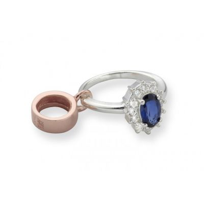 Clogau Silver and rose gold engagement ring charm