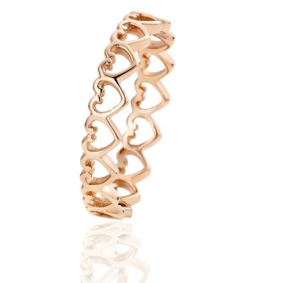 Clogau Rose Gold Heart Stacking Ring