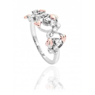 Clogau Love vine white topaz ring